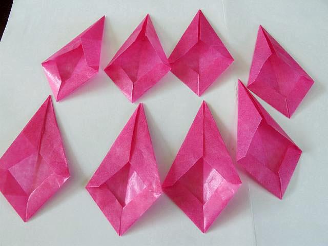 すべての折り紙 紙 箱 折り方 : トランスパレントスター(ス ...